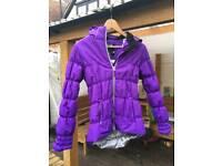 Girls winter ski jacket 13 - 14 years purple