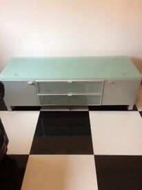 Glass sideboard/TV unit/Drinks Cabinet in excellent condition