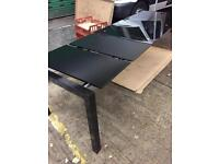Volga extendable dining table/ glass/ brand new