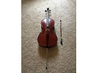 Child's cello - perfect for new beginner - excellent condition - hardly used