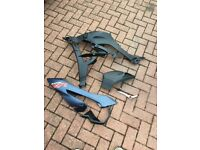 BMW S1000XR left hand fairing and black plastics slightly scratched