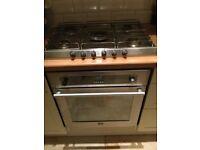Free Stoves gas oven + Smeg hob + cooker hood + mini fridge