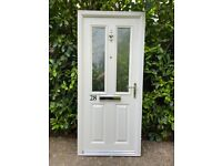 Composite Front Fire Door + Frame + Obscure Glazing