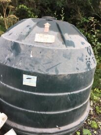 Beehive shape. Outside 300 gallon oil tank