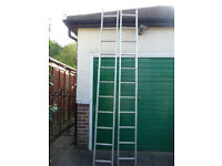 Two Section Aluminium Ladder - Extends to 5.6m (18 feet)