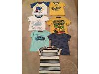 Bundle of 7 tee shirts age 9-12 months in great condition