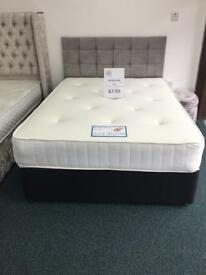 Double Divan Bed With 10 Inches Memory Foam Mattress