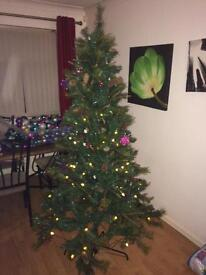 6ft 6 in Columbia pre-lit LED Christmas tree