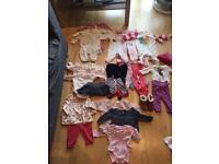 Large bundle of 0-3 girls clothes