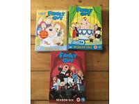 Family Guy DVD series 1, 5, 6