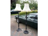 Wooden Vintage Style Floor Lamps