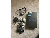 PlayStation 2 with 3 controllers