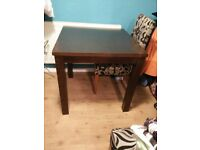 Small dining table dark brown wood £40 or near offer