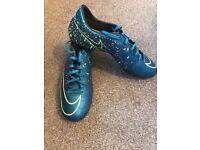 Nike mercurial metal stud hard ground football boots size men's 8