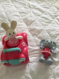 ELC Rosie Rabbit and car + elephant