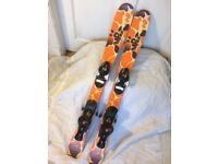Kids carver skis size 100cm with Salomon bindings