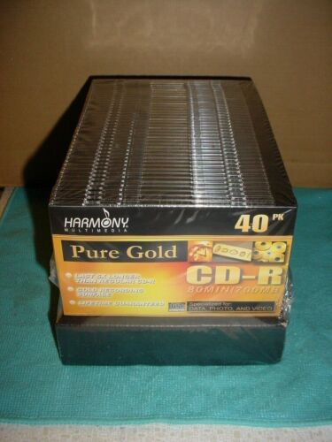 **NEW** Pure Gold CD-R Harmony Multimedia 40 Pack 80 Min 700 MB SEALED