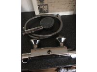 Thermostatic Mixer shower , hose shower head and slider rail