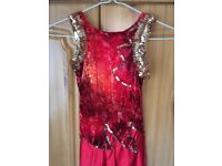 EXQUISITE CONDITION DANCE COSTUME. HANDMADE. HIGHLY SUITABLE FOR COMPETITIVE PERFORMANCE.