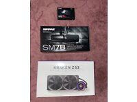 All brand new!! : Shure SM7B, Kraken Z63, Samsung 970 pro 1TB