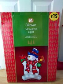 Snowman silhouette light (suitable for indoor or outdoor use)