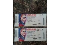 Elton John tickets X2 Leeds first direct arena 8th june