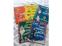Children's Five Dr Seuss books in mint condition