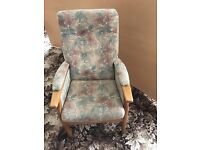 Arm chair great for someone with a bad back