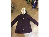 Dorothy Perkins Purple winter coat size 14