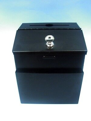 Pyramid Technologies Black Metal Suggestionmail Box