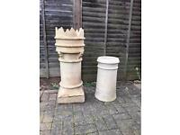 Crown Chimney Pot + Traditional Roll Top Chimney Pot
