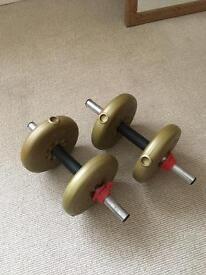 York fitness barbells 2.3kg/5lb