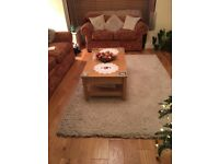 Nearly new cream soft tufted M&S rug