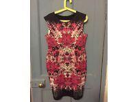 Black & Pink print bodycon dress