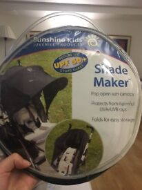 Pushchair protect sun canopy shade maker