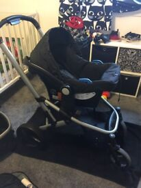Travel System. Pram, buggy, and Car seat.