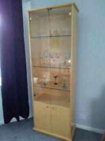 Glass display cabinet shelves ornament shelf