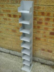 Solid Grey Media Rack. Wall Mount or Free Standing