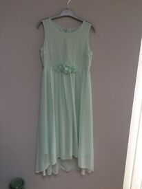 Beautiful MInt dress age 14 for bridesmaid or summer occasion.