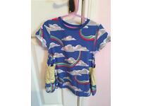 Mini boden 3-4 years rainbow tunic