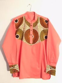 African Wear - Men's Shirts White, Pink, Blue and many more