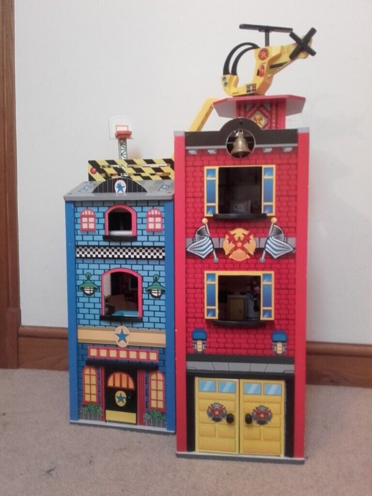Kidkraft Wooden Police And Fire Station In Caerphilly Gumtree