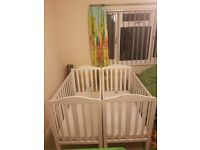 x2 Mothercare cots (fixed sides)