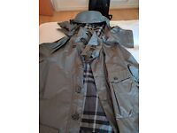 Mens Burberry Parka in grey, with tags, never worn, Small-Medium