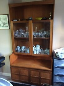 2 Nathan teak solid wood wall units, plus 1 corner unit. Bessacarr doncaster