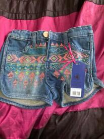 Baby girl denim shorts