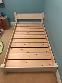 For Sale: Children's Low Wooden Bed by Warren Evans - Short Single - Great for Small Room £70 ono
