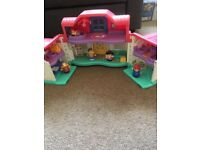 Fisher Price little people house and train set