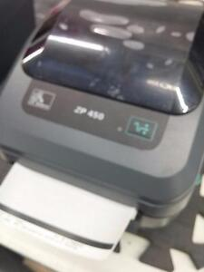Zebra ZP 450 CTP Label thermal printer USB PARALLEL
