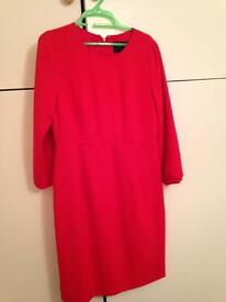 J Crew bright red dress (never worn)